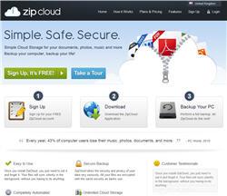 zip cloud online backup promotion