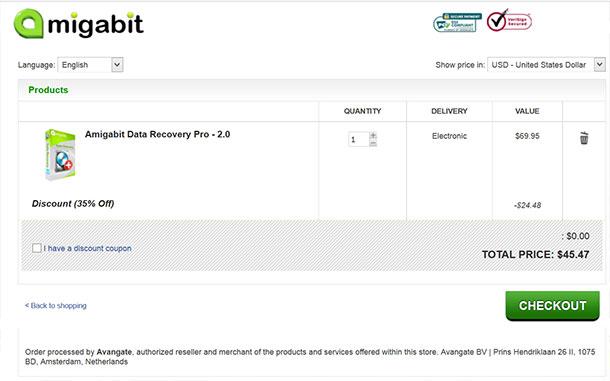 Amigabit Data Recovery Coupon Code